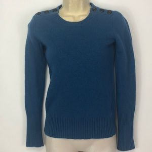 J Crew Wool Cashmere Sweater Button Detail